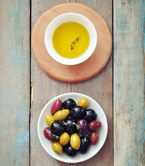 Different kinds of olives