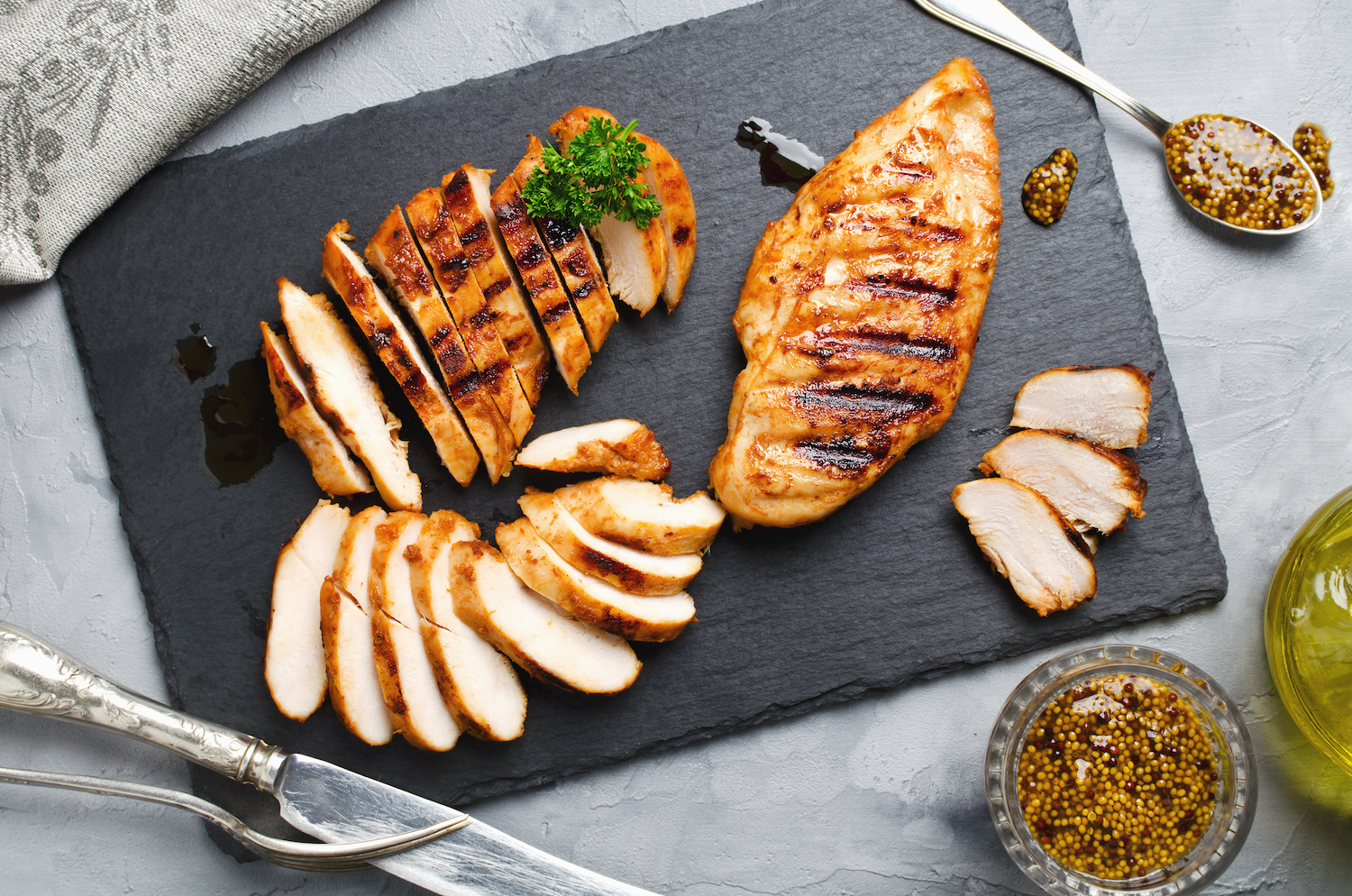 Grilled chicken breast white meat