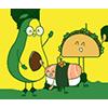 foodsmart-characters-avocado-taco-sushi